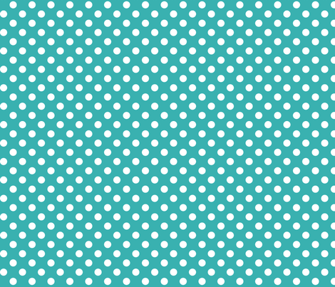 polka dots 2 teal fabric by misstiina on Spoonflower - custom fabric