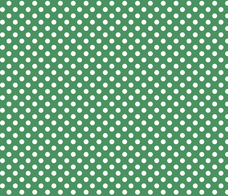 polka dots 2 green and white