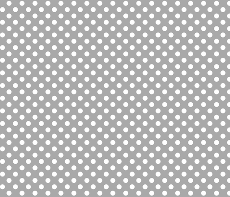 polka dots 2 grey and white fabric by misstiina on Spoonflower - custom fabric