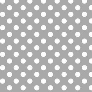 polka dots 2 grey and white
