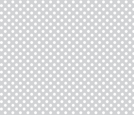 polka dots 2 light grey and white fabric by misstiina on Spoonflower - custom fabric