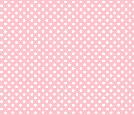 polka dots 2 light pink fabric by misstiina on Spoonflower - custom fabric