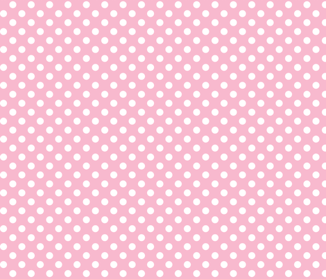 polka dots 2 light pink and white fabric by misstiina on Spoonflower - custom fabric