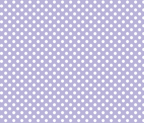 polka dots 2 light purple and white fabric by misstiina on Spoonflower - custom fabric