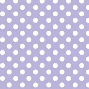 polka dots 2 light purple and white