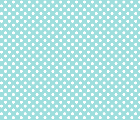 polka dots 2 light teal fabric by misstiina on Spoonflower - custom fabric