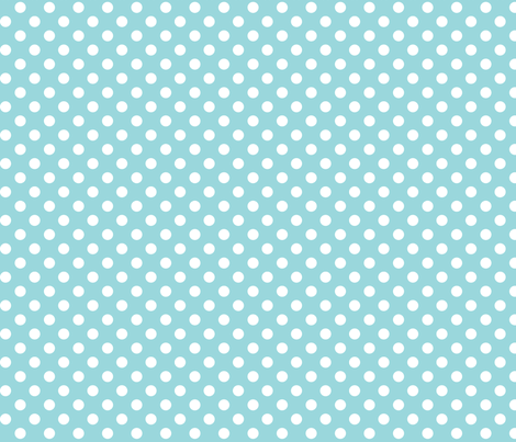 polka dots 2 teal and white fabric by misstiina on Spoonflower - custom fabric