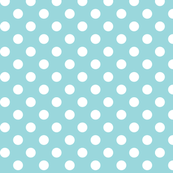 polka dots 2 teal and white