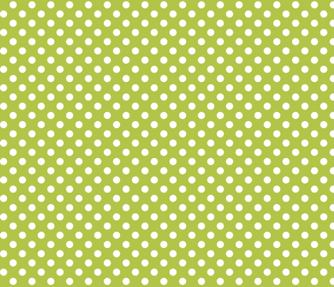 polka dots 2 lime green and white