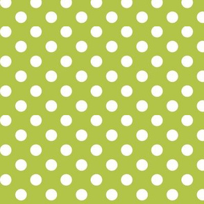 polka dots 2 lime green