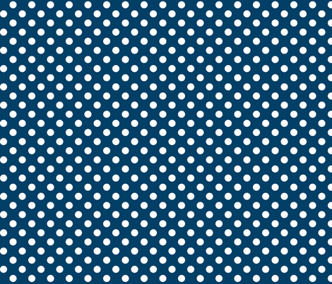 polka dots 2 navy blue and white fabric by misstiina on Spoonflower - custom fabric