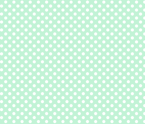 polka dots 2 ice mint green fabric by misstiina on Spoonflower - custom fabric