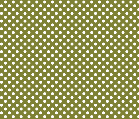 polka dots 2 olive green and white fabric by misstiina on Spoonflower - custom fabric