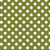 polka dots 2 olive green and white