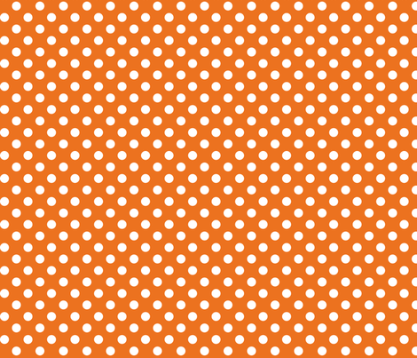 polka dots 2 orange and white - misstiina - Spoonflower