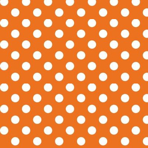 polka dots 2 orange and white