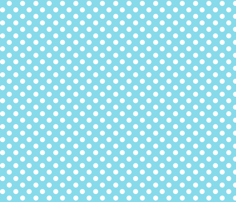 polka dots 2 sky blue fabric by misstiina on Spoonflower - custom fabric