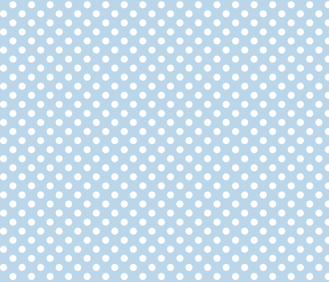 polka dots 2 powder blue and white