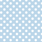 polka dots 2 powder blue and white