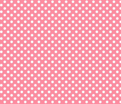 polka dots 2 pretty pink and white fabric by misstiina on Spoonflower - custom fabric