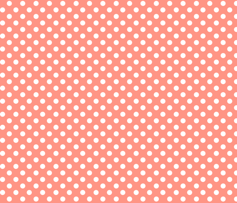polka dots 2 peach fabric by misstiina on Spoonflower - custom fabric