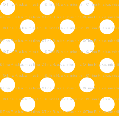 polka dots 2 pumpkin orange and white