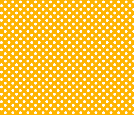 polka dots 2 pumpkin orange and white fabric by misstiina on Spoonflower - custom fabric
