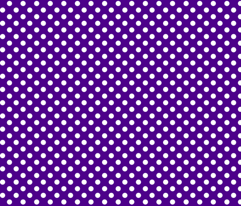 polka dots 2 purple and white fabric by misstiina on Spoonflower - custom fabric