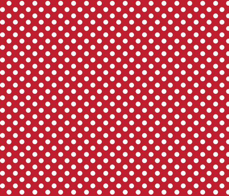 polka dots 2 red and white fabric by misstiina on Spoonflower - custom fabric