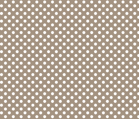 polka dots 2 tan and white fabric by misstiina on Spoonflower - custom fabric