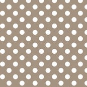 polka dots 2 tan and white