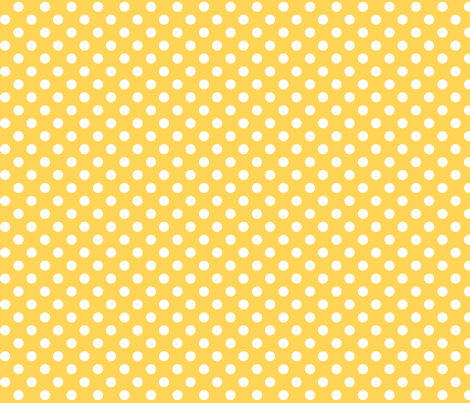 polka dots 2 yellow and white