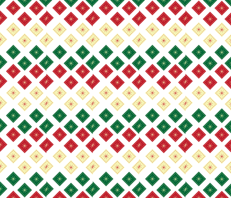 Christmas-stars fabric by hmooreart on Spoonflower - custom fabric