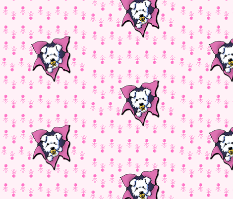Westie Baby Girl fabric by kiniart on Spoonflower - custom fabric