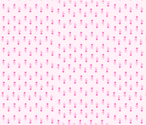 Baby Girl Pink Rattles fabric by kiniart on Spoonflower - custom fabric