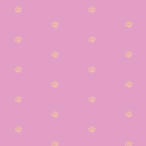 Bits of Sunshine in Candy Pink and Yellow fabric by kbexquisites on Spoonflower - custom fabric