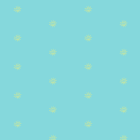 Bits of Sunshine in Aqua and Yellow fabric by kbexquisites on Spoonflower - custom fabric