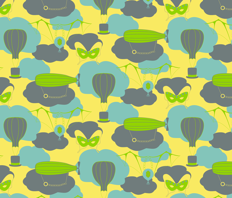 Peculiar Fancy Flights fabric by modgeek on Spoonflower - custom fabric
