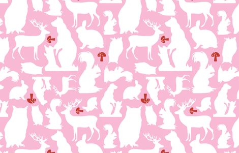 Woodland Animals Large Candy fabric by emma_smith on Spoonflower - custom fabric