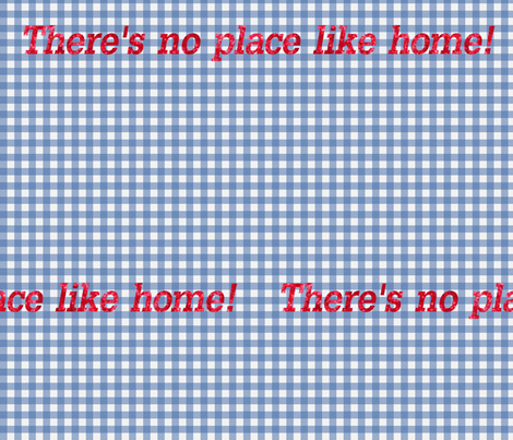 Oz Gingham ~ No Place Like Home fabric by peacoquettedesigns on Spoonflower - custom fabric