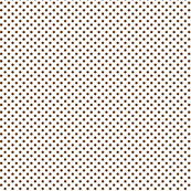 mini polka dots brown and white