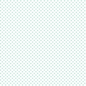 mini polka dots mint green and white