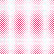 mini polka dots dark pink and white