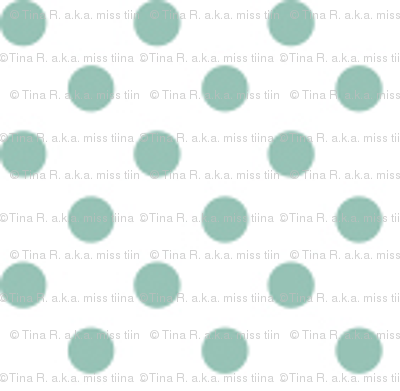 mini polka dots faded teal and white