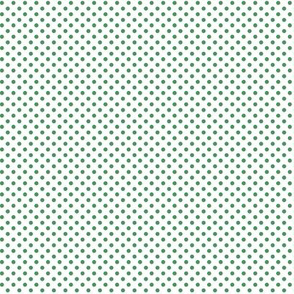 mini polka dots kelly green