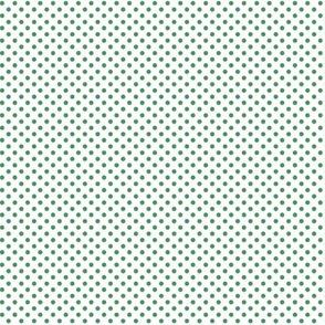 mini polka dots green and white