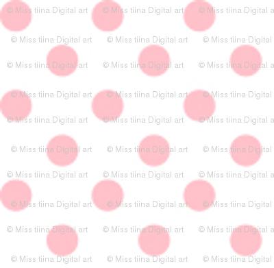 mini polka dots light pink