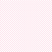 mini polka dots light pink and white
