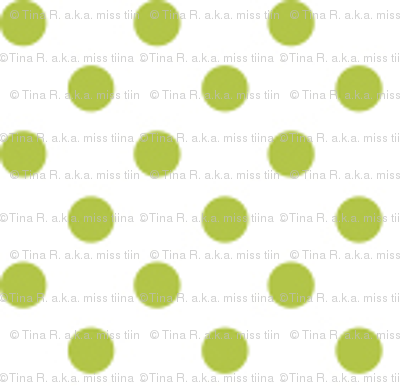 mini polka dots lime green and white