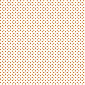 mini polka dots orange and white